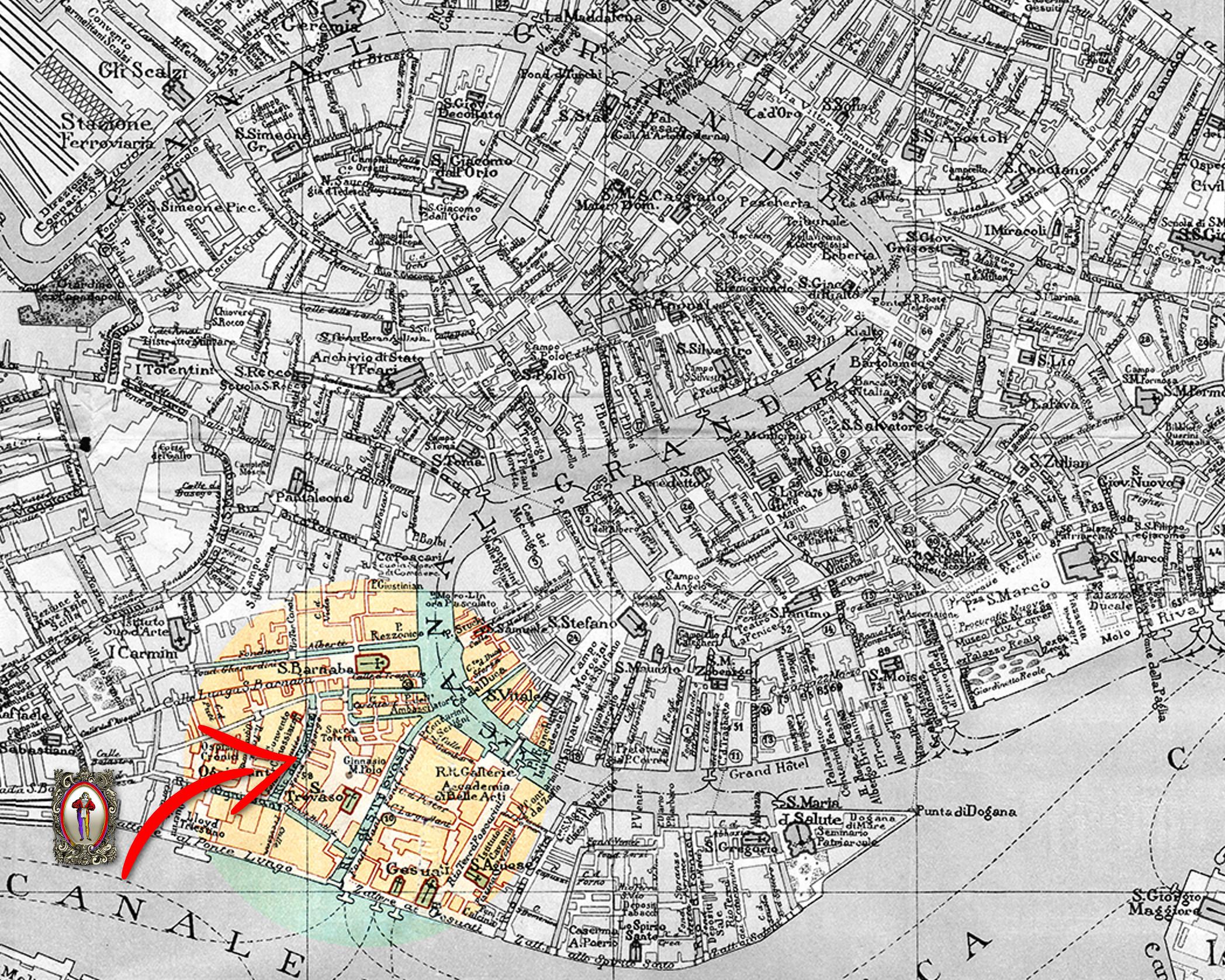 Compagnia de Calza I Antichi. Dorsoduro 1138 (Calle Ochialera - Fondamenta di Borgo)