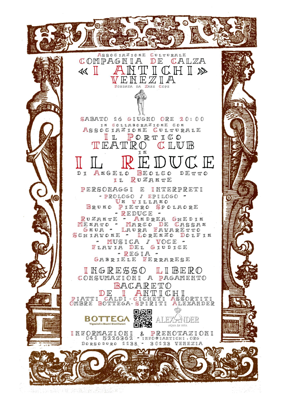 Sabato 16 giugno - Il Reduce di Ruzante a cura de Il Portico - Teatro Club