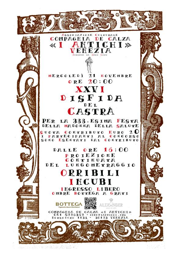 21 novembre 2018 - Festa della Salute - 26.esima Disfida del Castrà