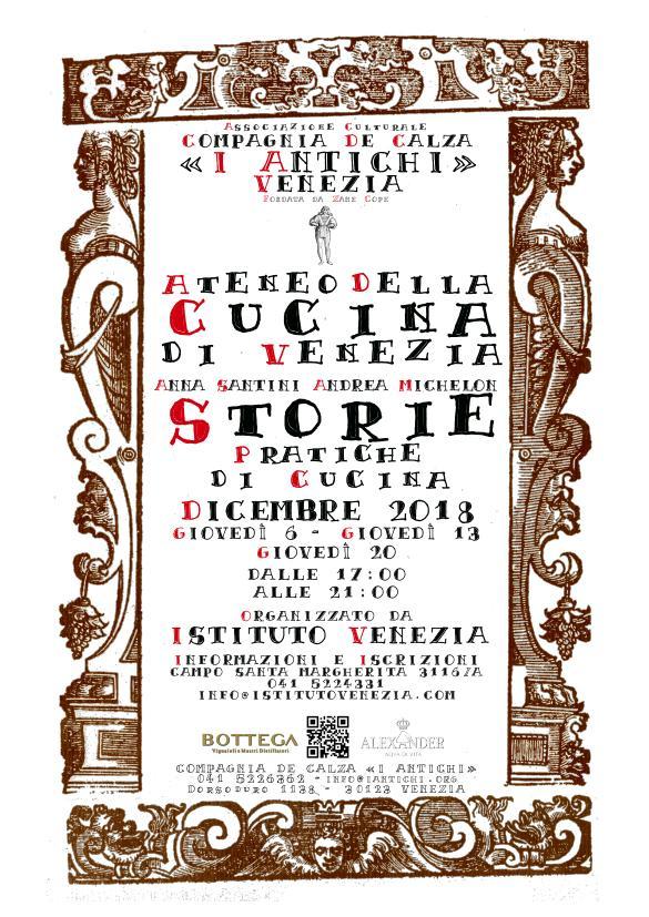Storie e Pratiche di Cucina in Lingua Italiana - Programma di Dicembre 2018