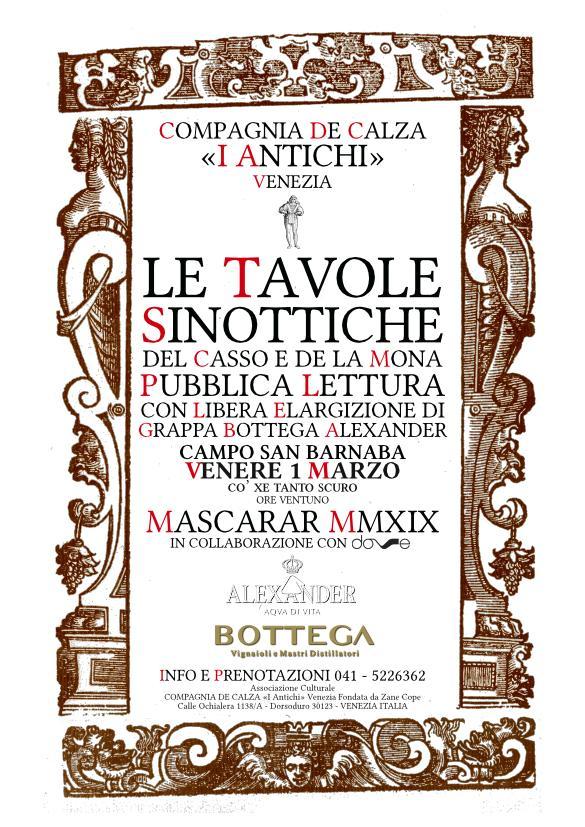 Le Tavole Sinottiche - Pubblica Lettura - Campo San Barnaba - Venere 1 marzo
