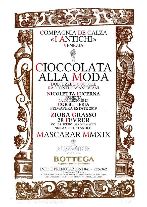 Una Cioccolata alla Moda - Zioba Grasso 2019