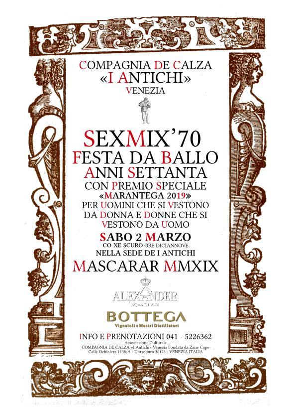 SEXMIX'70 - BALLO E CONCORSO - SABO DE CARNEVAL 2 MARZO 2019